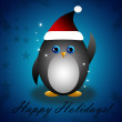 Happy New Year penguin — Stock Photo