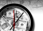 Dollar clock — Stockfoto