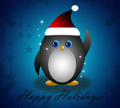Happy New Year penguin — Stockfoto