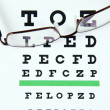 Eye test chart. — Stock Photo