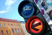 Traffic light in Berlin — Stock Photo