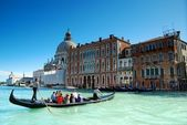 Gondola on Grand Canal, Venice — Stock Photo