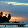 Sunset in Moorea. — Stock Photo
