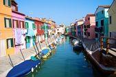 在威尼斯布拉诺岛。在欧洲旅游. — 图库照片