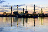 River and oil refinery factory with refection in Bangkok, Thailand. — Stock Photo