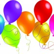 Royalty-Free Stock Vector Image: Vector illustration of a bunch of ballons with space for text