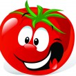 Funny cartoon cute tomato — Stock Vector