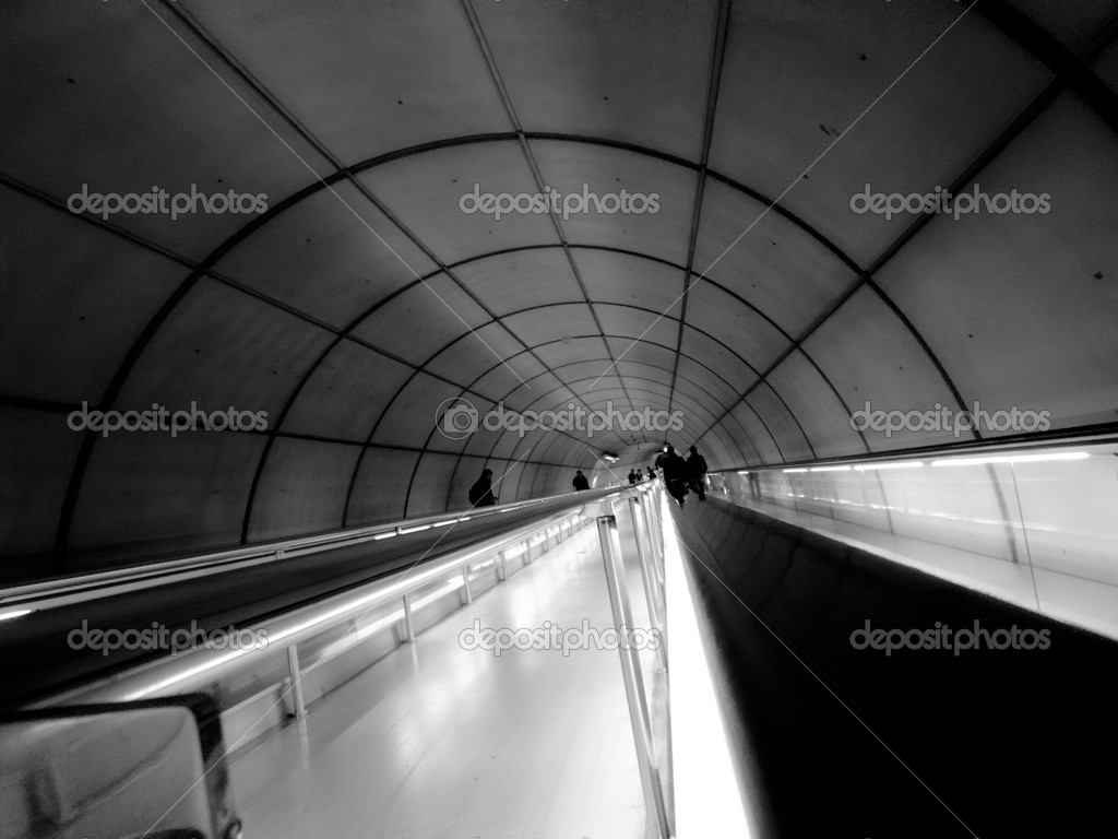 A tunnel to the subway of bilbao  Stock Photo #11740867
