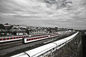 Trains in Berlin — Stock Photo