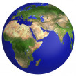 Earth planet globe map — Stock Photo