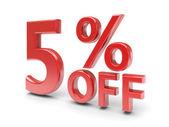 5 percent discount — Stock Photo