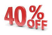 40 percent discount — Stock Photo