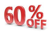 60 percent discount — 图库照片