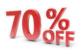 70 percent discount — ストック写真