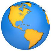 O globo da terra — Fotografia Stock