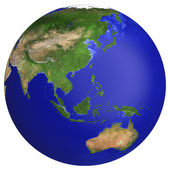 Earth planet globe map. — Stock Photo