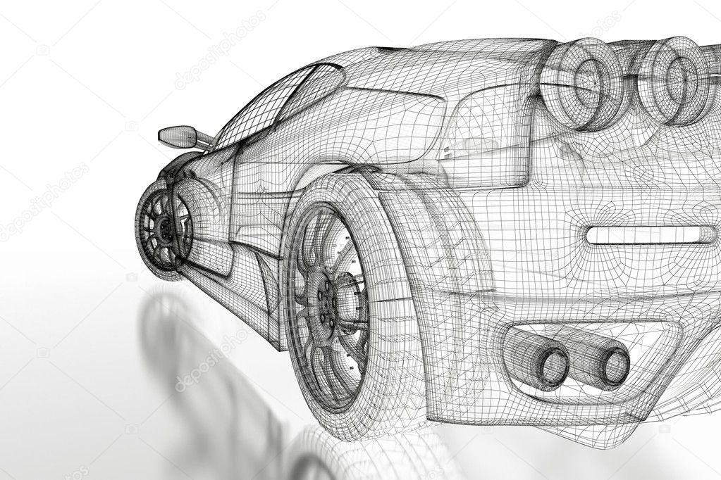 Графические рисунки автомобилей