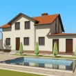 3D sketch of house — Stock Photo #11567139