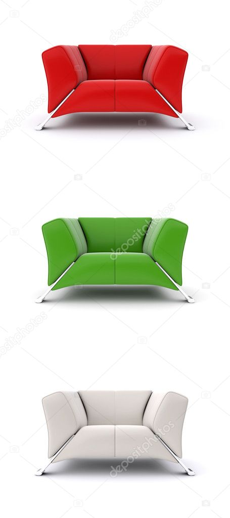 A set of multi-colored models of armchairs  Stock Photo #11560697
