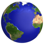 Earth planet globe map — Stock Photo