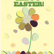 Easter greeting card with decorative egg - Stock Vector