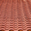 Stock Photo: Red clay tiles roof pattern