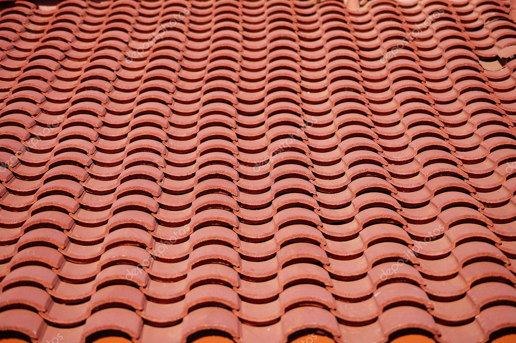 Red clay tiles roof pattern stock photo melodiematt for Roof tile patterns