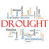 Drought Word Cloud Concept — Stock Photo