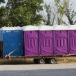 Stock Photo: Blue and Purple PortPottys