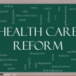 Health Care Reform Word Cloud Concept on a Blackboard — Stock Photo #11738197