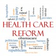Health Care Reform Word Cloud Concept — Стоковая фотография