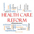 Health Care Reform Word Cloud Concept - Stock fotografie