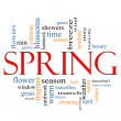 Royalty-Free Stock Photo: Spring Word Cloud Concept