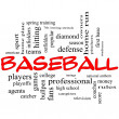Stock Photo: Baseball Word Cloud Concept in Red Caps