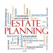 Stock Photo: Estate Planning Word Cloud Concept