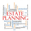 Estate Planning Word Cloud Concept — Stock Photo