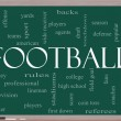 Foto Stock: Football Word Cloud Concept on a Blackboard