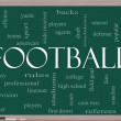 Football Word Cloud Concept on a Blackboard — Foto Stock