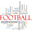 Football Word Cloud Concept — Photo