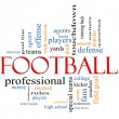 Football Word Cloud Concept — Stock fotografie