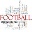 concepto de fútbol palabra cloud — Foto de Stock