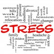 Stress word cloud concept in red caps — Stock Photo #11738636