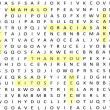 Thank You Terms Word Search - Stock Photo