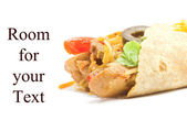 Fajita with Room for Text — Stock Photo