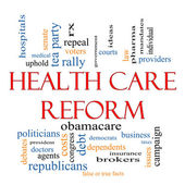 Health Care Reform Word Cloud Concept — Стоковое фото