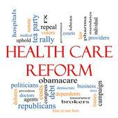 医療制度改革の単語の雲の概念 — ストック写真