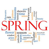 Spring Word Cloud Concept — Stock Photo