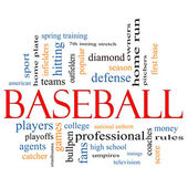 Baseball Word Cloud Concept — Stock Photo