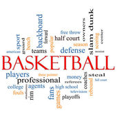 Basketball Word Cloud Concept — Stock Photo