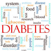 Diabetes Word Cloud Concept — Stockfoto